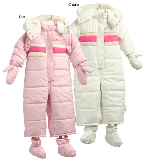 05d2419e2 Shop Weatherproof Infant Girl s Hooded Snowsuit - Free Shipping On ...