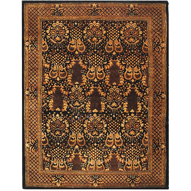 Safavieh Handmade Majestic Black New Zealand Wool Rug - 7'6 x 9'6