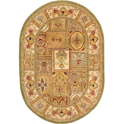 "Safavieh Handmade Classic Empire Wool Panel Rug - 7'6"" x 9'6"" Oval"