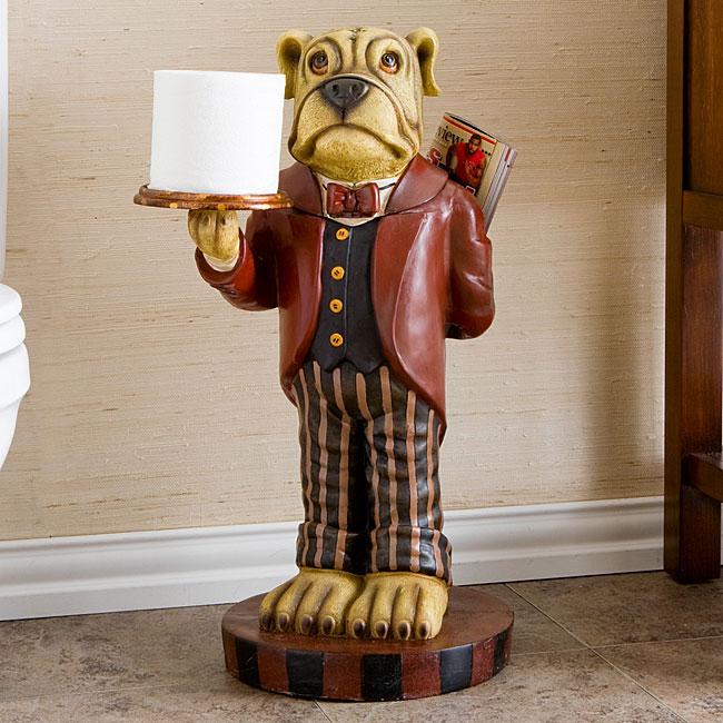 Bulldog tissue butler free shipping today 11455880 for Bathroom butler toilet paper holder