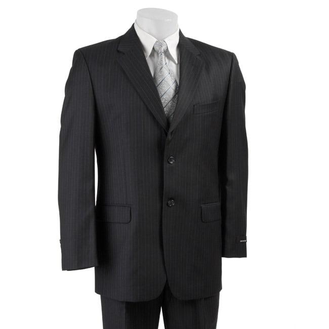 Jones New York Men's Navy Pinstripe Wool Suit