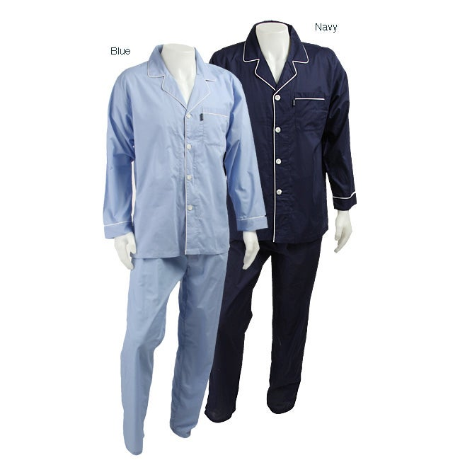 67f609d0ea92e Shop Izod Men's Solid Broadcloth Pajamas - Free Shipping On Orders Over $45  - Overstock - 3373686