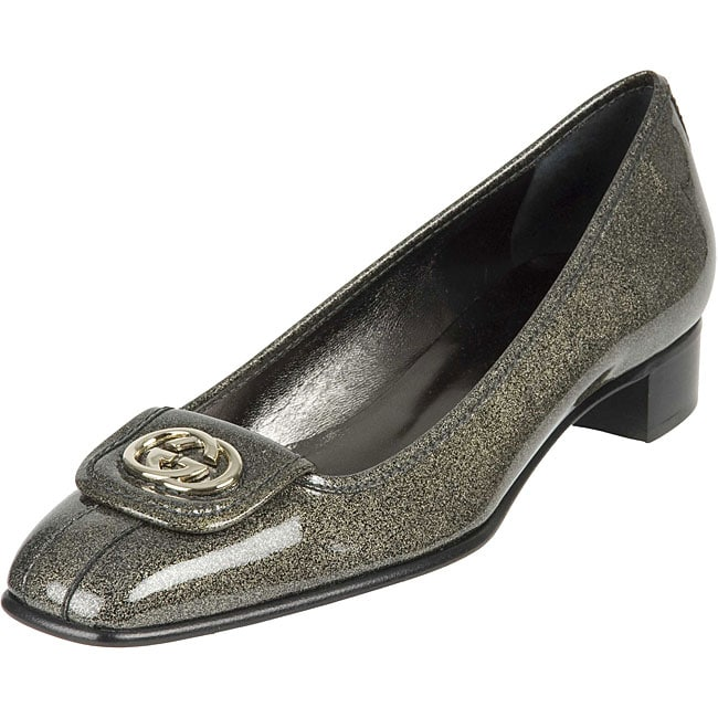bbb891f1f9a3ed Shop Gucci Glitter Vernice Patent Leather Shoes - Free Shipping ...