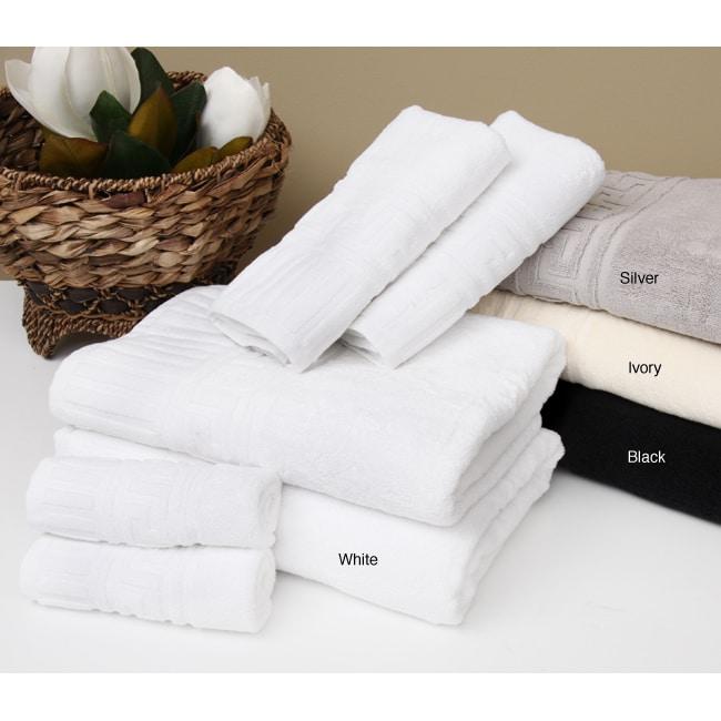 Rib Border Greek Key 6-piece Cotton Towel Set