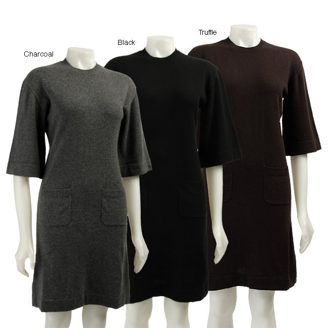 Cullen Womens Elbow sleeve Cashmere Sweater Dress