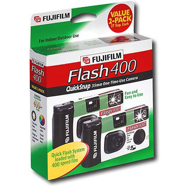 FujiFilm QuickSnap Flash 400 Single Use Camera (Pack of 2)