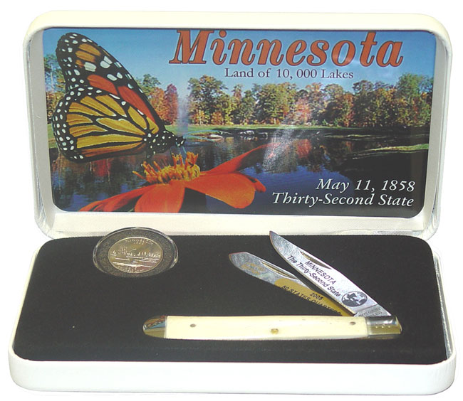 U.S. Mint Minnesota State Quarter Knife/ Coin Set
