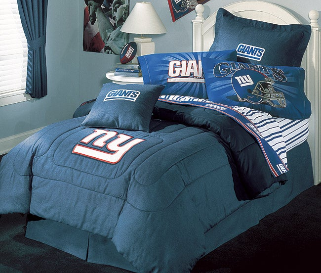 Attractive NFL New York Giants Comforter Set (Queen)