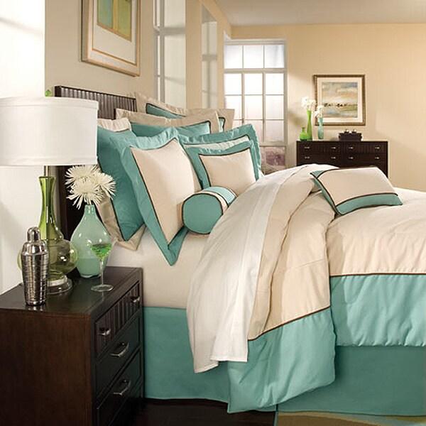 Elements by DreamFit 10-piece Aqua Oversized Comforter Ensemble
