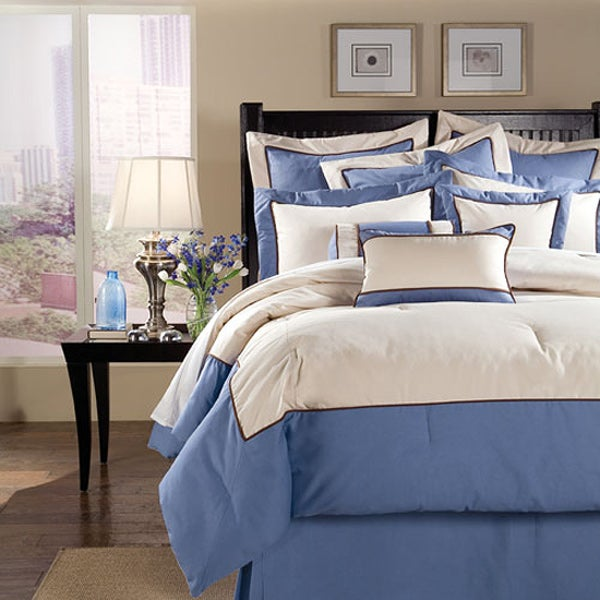 Elements by DreamFit 10-piece Blue Oversized Comforter Set
