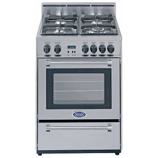 Delonghi Stainless Steel 24 Inch Gas Range Free Shipping