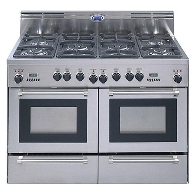 Delonghi 48 Inch Stainless Steel Freestanding Dual Fuel Gas Range Free Shipping Today 3381193