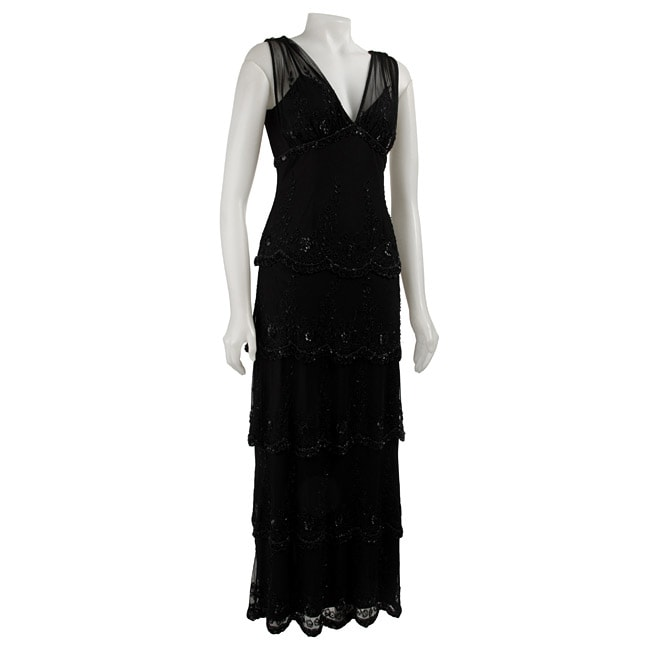 ce432a1f3fcf4 Shop Stenay Women s Tiered Sequin Dress - Free Shipping Today - Overstock -  3381304