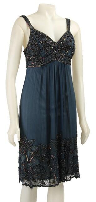 f5ad426c6cdbb Shop Stenay Women s Beaded Silk Chiffon Dress - Free Shipping Today -  Overstock - 3381305