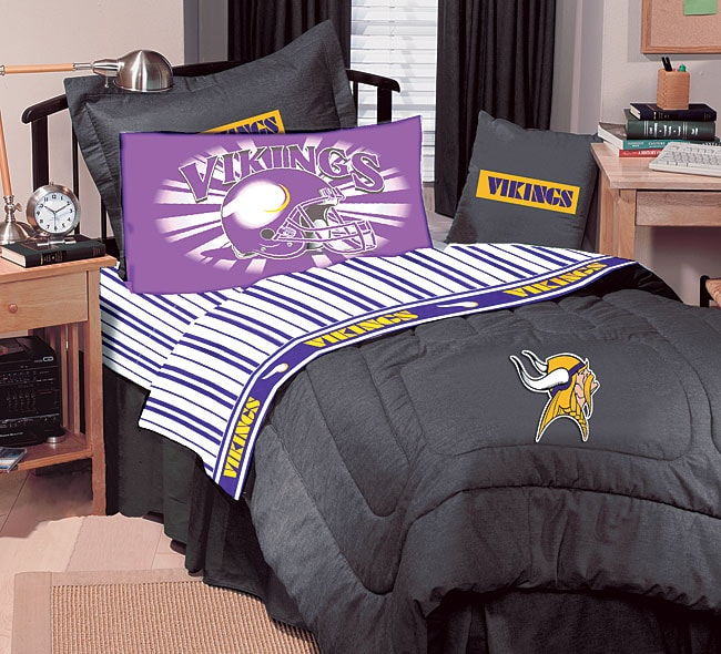 Nfl Minnesota Vikings Comforter Set Twin Free Shipping