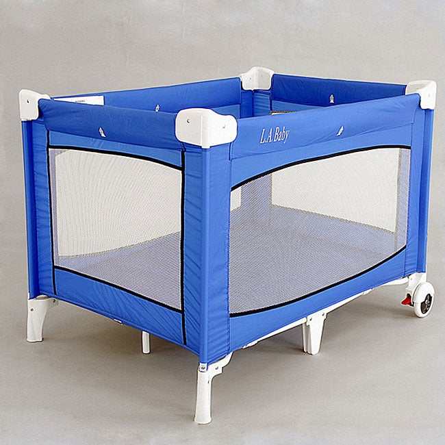 La Baby Large Commercial Grade Play Yard With Wheels