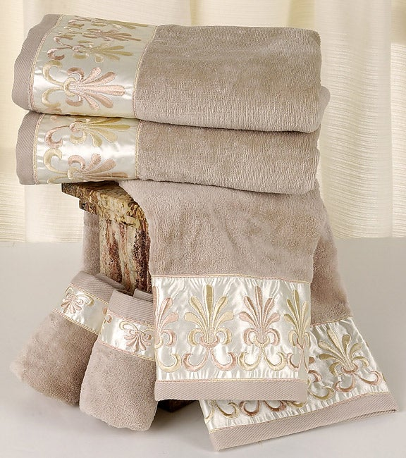 Kassafina luxury decorative 6 piece towel set free for Bathroom decorative towels
