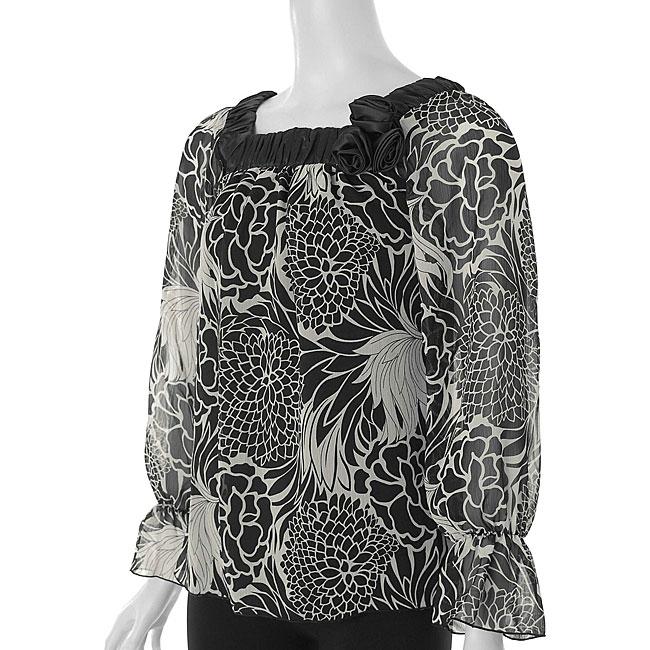 Loren D. Women's Sheer Square-neck Shirt