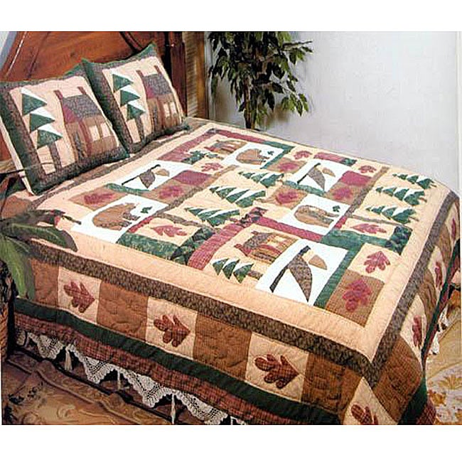 Winter Cabin 3 Piece Quilt Set Free Shipping Today