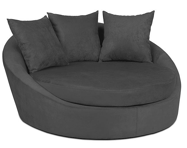 Roundabout Charcoal Low Circle Chair