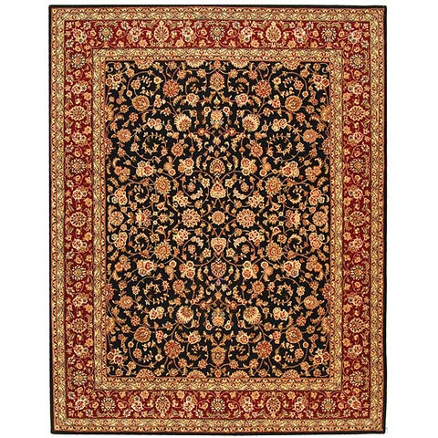 Safavieh Handmade Persian Court Traditional Black / Red Wool Rug - 8' x 10'