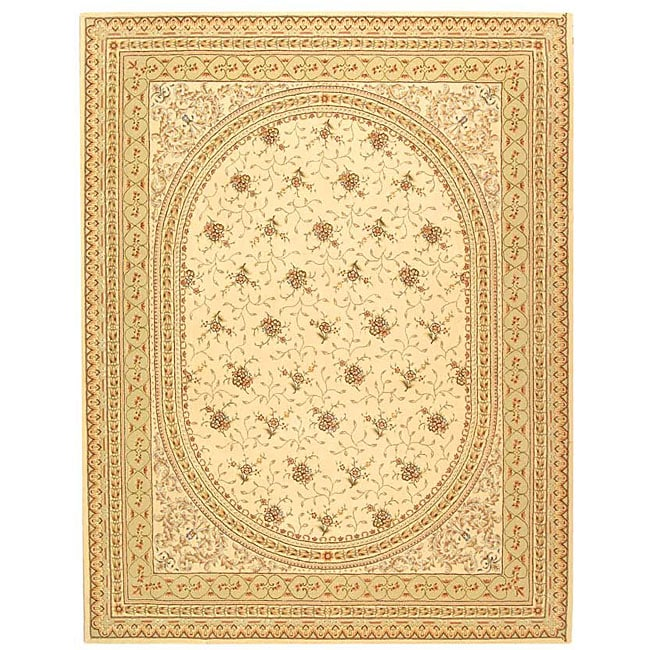 Safavieh Handmade Ivory/ Beige Wool and Silk Rug - 9' x 12'