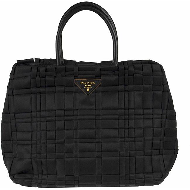 75f87883fe47 Shop Prada Medium Woven Nylon Tote Bag - Free Shipping Today - Overstock -  3414663