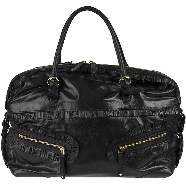 Gucci 'Sabrina' Black Leather Boston Bag