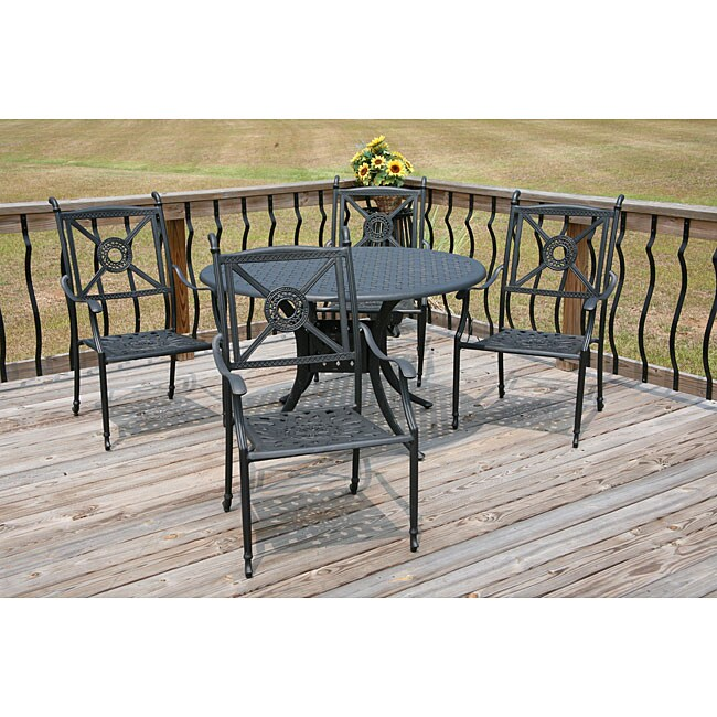 Monte Carlo 5 Peice Black Dining Set