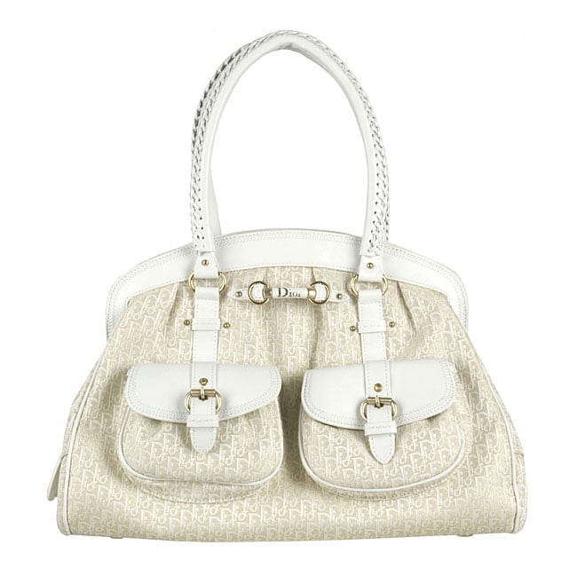6884e3a0c4139 Shop Christian Dior White Gold Diorissimo  My Dior  Bag - Free Shipping  Today - Overstock - 3416656