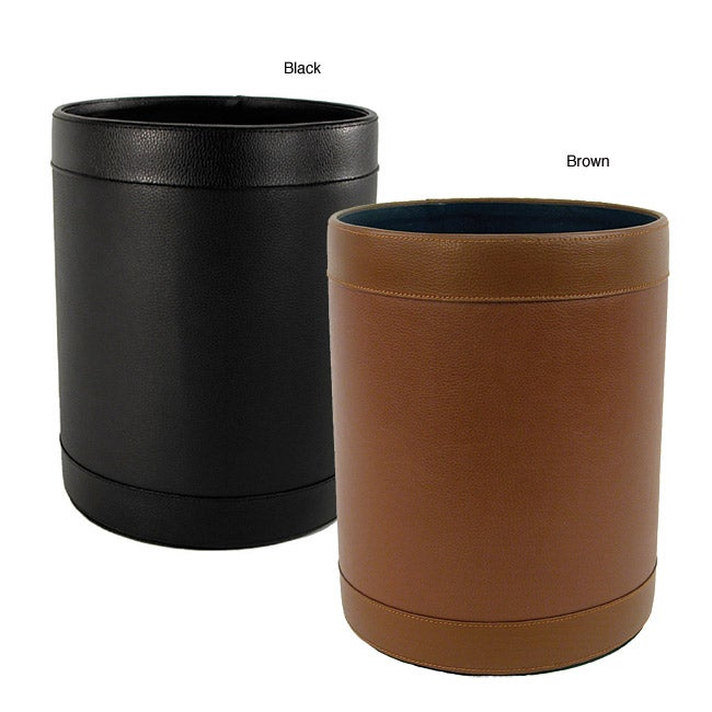 Buddy Leather Waste Basket