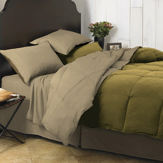 Columbia Olive Green 3 Piece Down Alternative Comforter