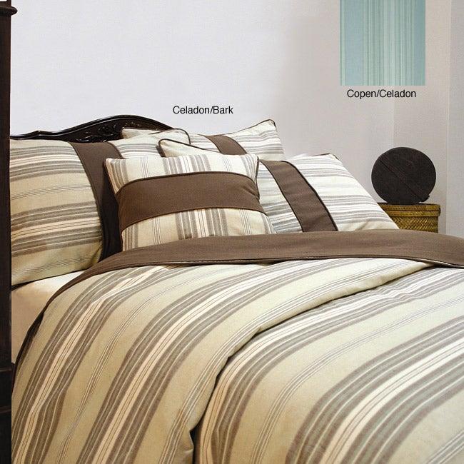 Eco Vintage Stripe Full/ Queen Duvet Cover Set