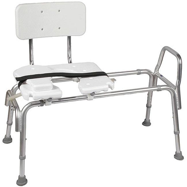 Mabis Healthcare Bath Bench, Silver aluminum