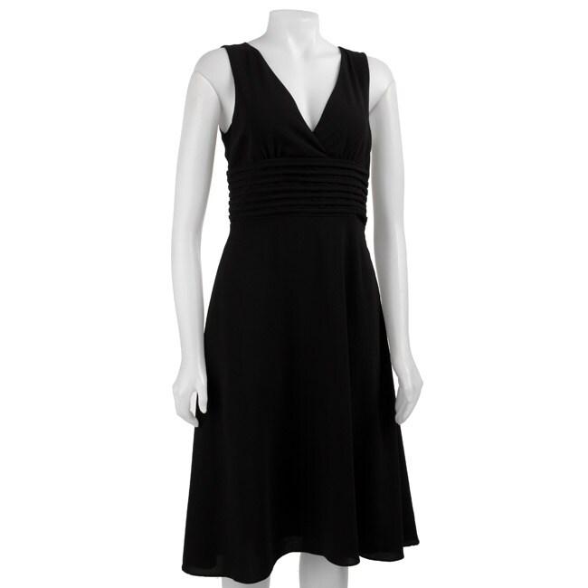 Fylo Women's Black Crepe Dress