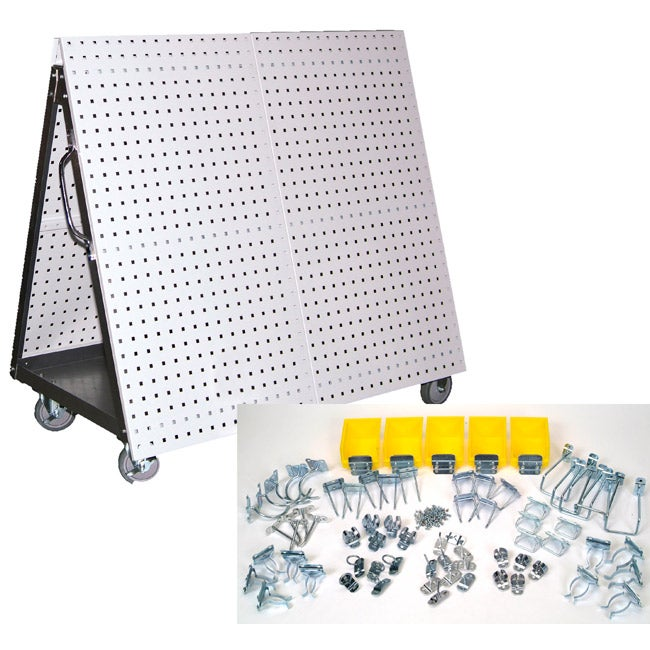 Mobile Tool Cart Hook Pegboard