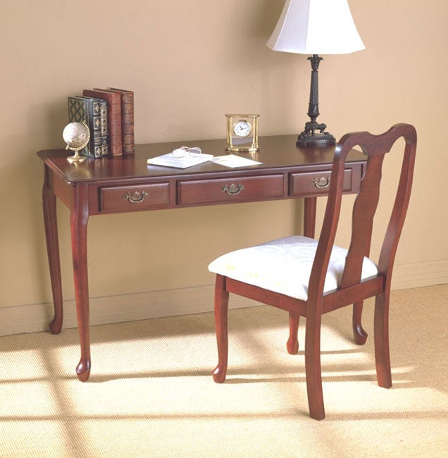 Shop Queen Anne Desk Chair Set Free Shipping Today >> Queen Anne Desk Chair Set