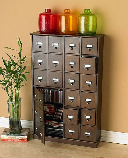 Apothecary Style Espresso Media Cabinet Return Hold Free Shipping Today 1587427