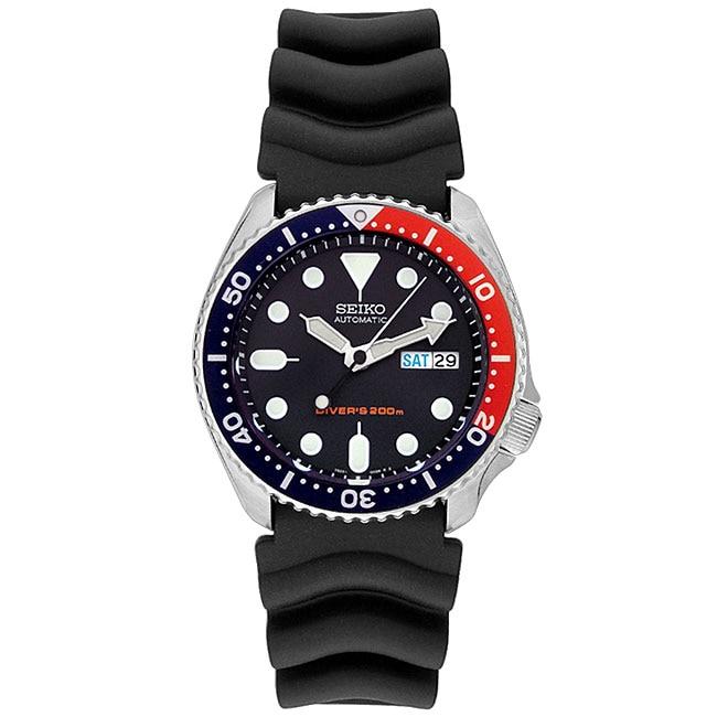 Seiko Men's Diver Automatic Black Rubber Watch, Size One ...