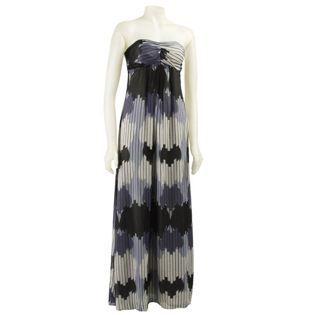 89a2fef5c6747 Shop Max & Cleo Women's Strapless Printed Maxi Dress - Free Shipping Today  - Overstock - 3428359