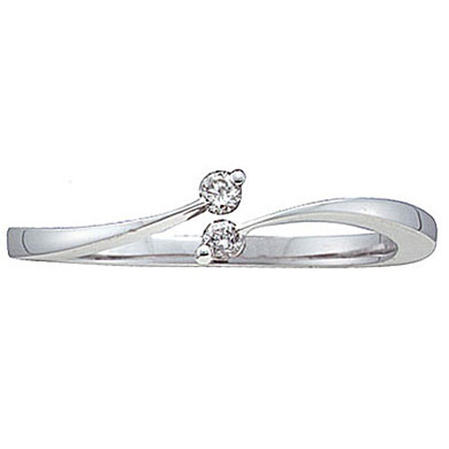 Unending Love 10k White Gold Diamond Promise Ring