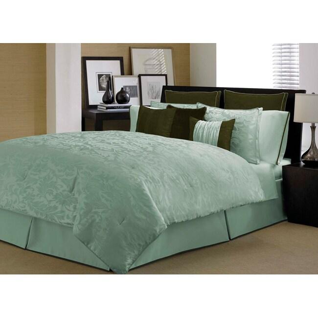 Manor Hill's Kensington Aqua/ Chocolate 4-piece Comforter Set