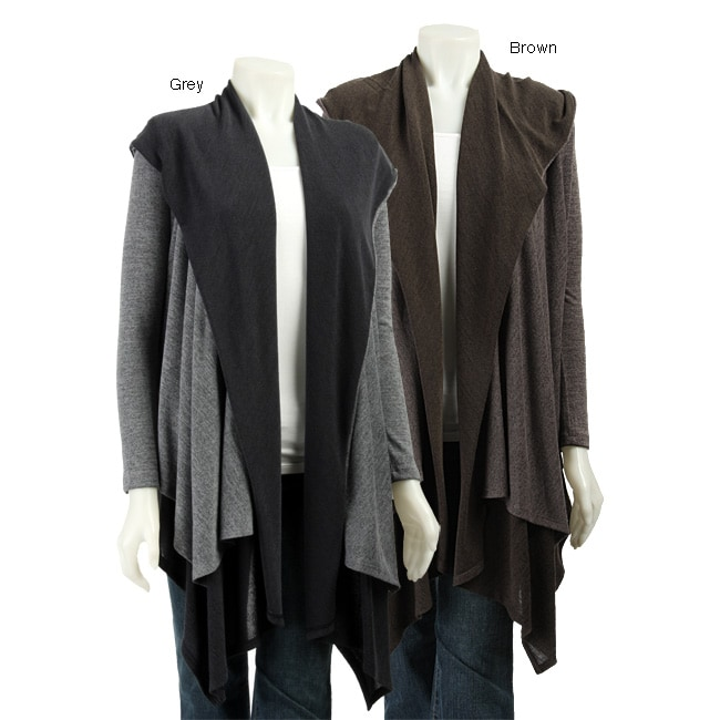 L11510902 renee c women's hooded wrap around sweater free shipping today,Renee C Womens Clothing