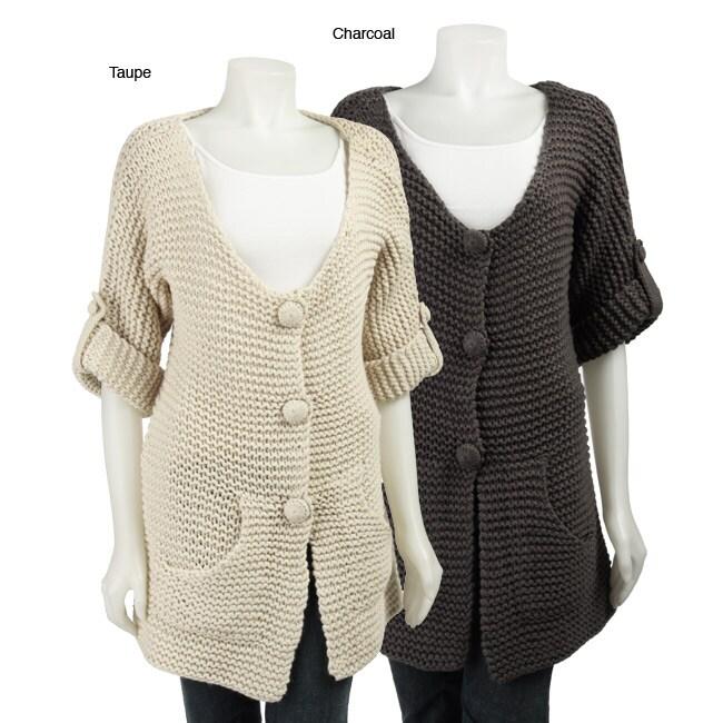 L11510903 renee c women's handmade chunky knit sweater free shipping today,Renee C Womens Clothing