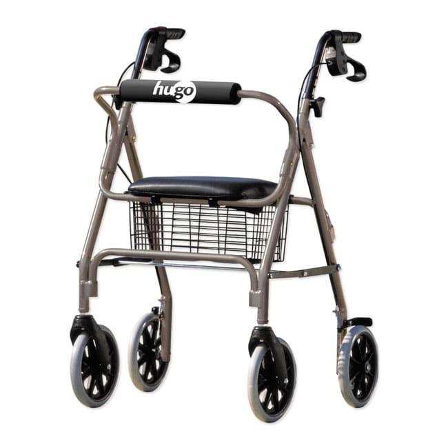 Hugo Silver Seated Rolling Walker