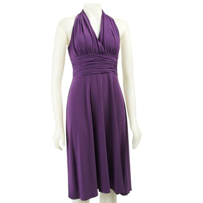 Evan Picone Women's Purple Marilyn Dress
