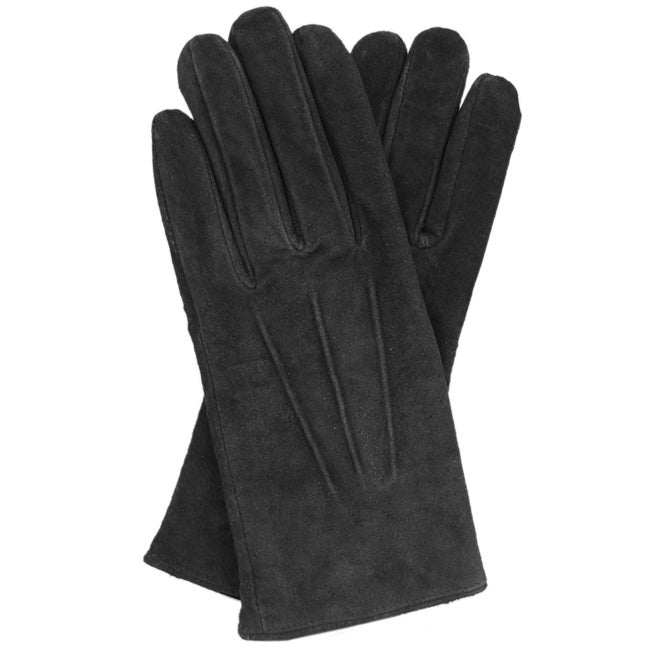 Isotoner Womens Leather Gloves With Fleece Lining