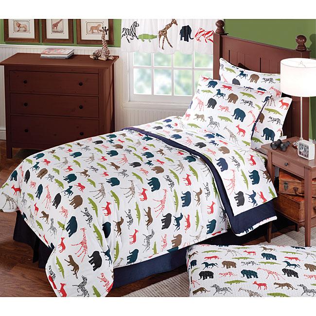 Kids  Jungle Fever Comforter Set. Kids  Jungle Fever Comforter Set   Free Shipping Today   Overstock