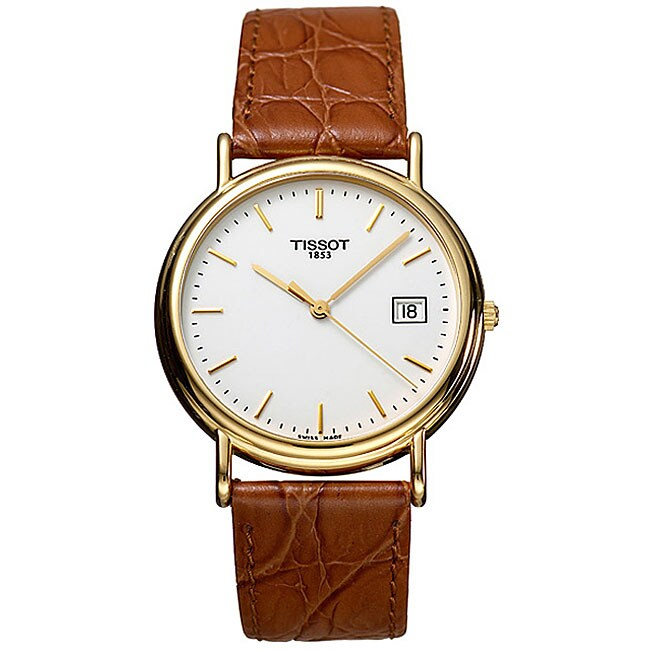 fd604fafe Shop Tissot T-Gold Carson Men's 18k Quartz Strap Watch - Free Shipping  Today - Overstock - 3442869