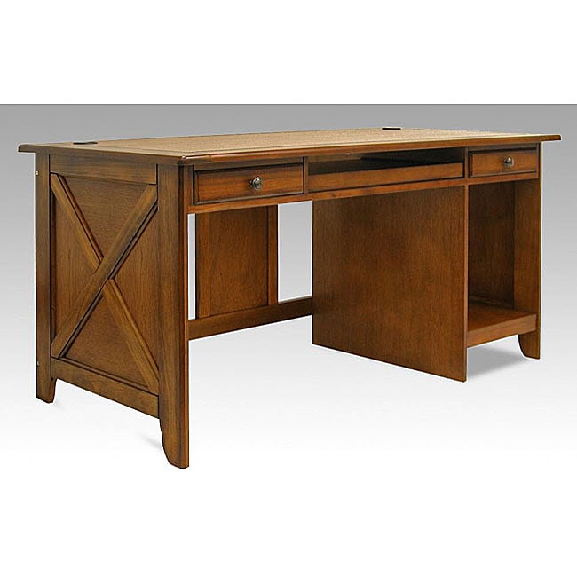 Newport Country Style Home Office Oak Desk Free Shipping  : L11519292a <strong>Walmart</strong> Desk Chairs from www.overstock.com size 650 x 650 jpeg 21kB